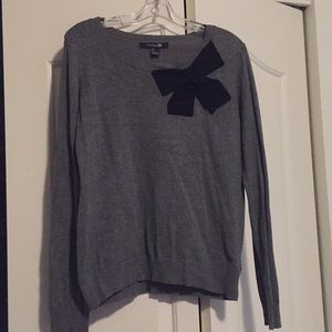 Forever 21 Gray Bow Sweater Large